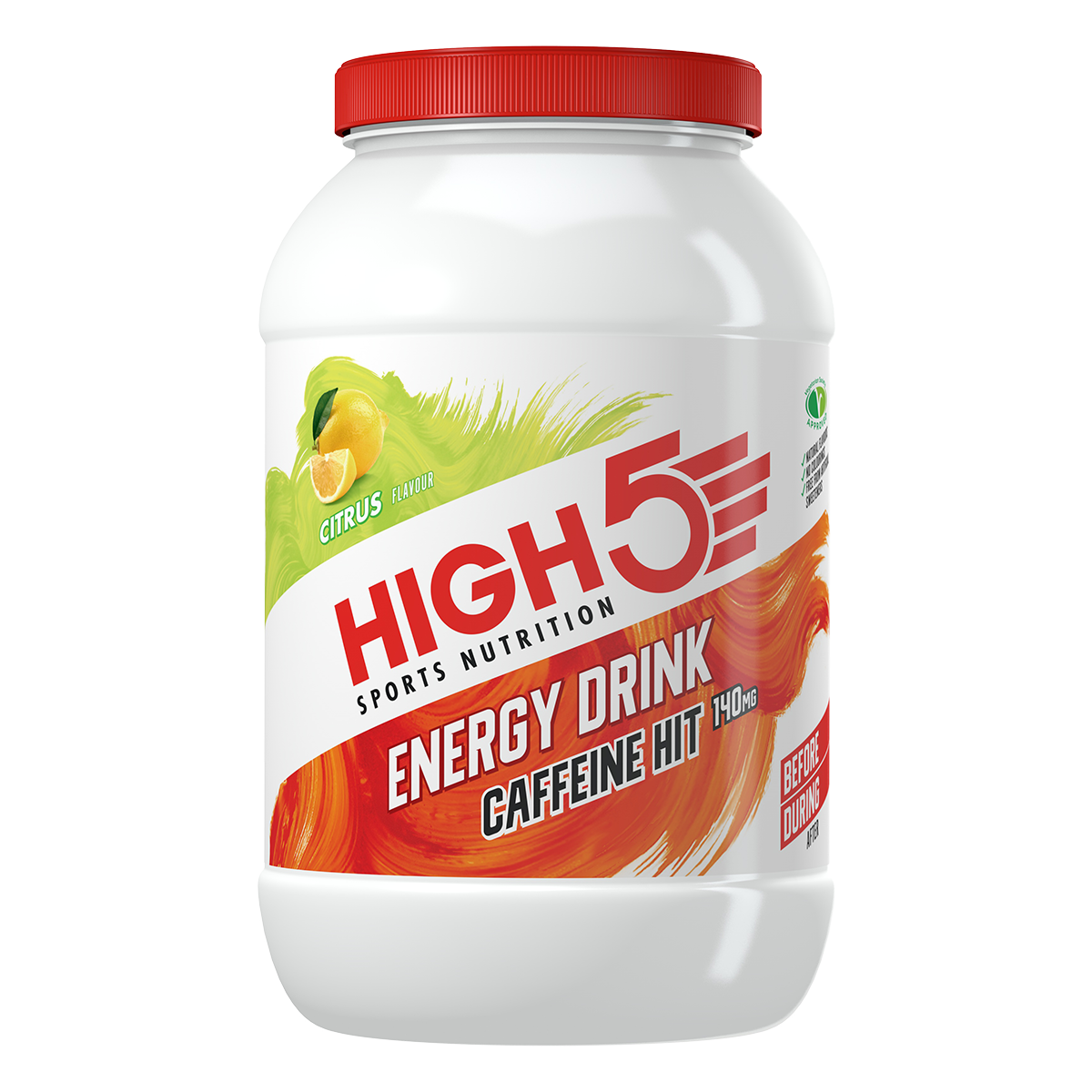 High5 2:1 Energy Drink Caffeine HIT (X'Treme) - Citrom ízű, 1,4 (kg),  (30