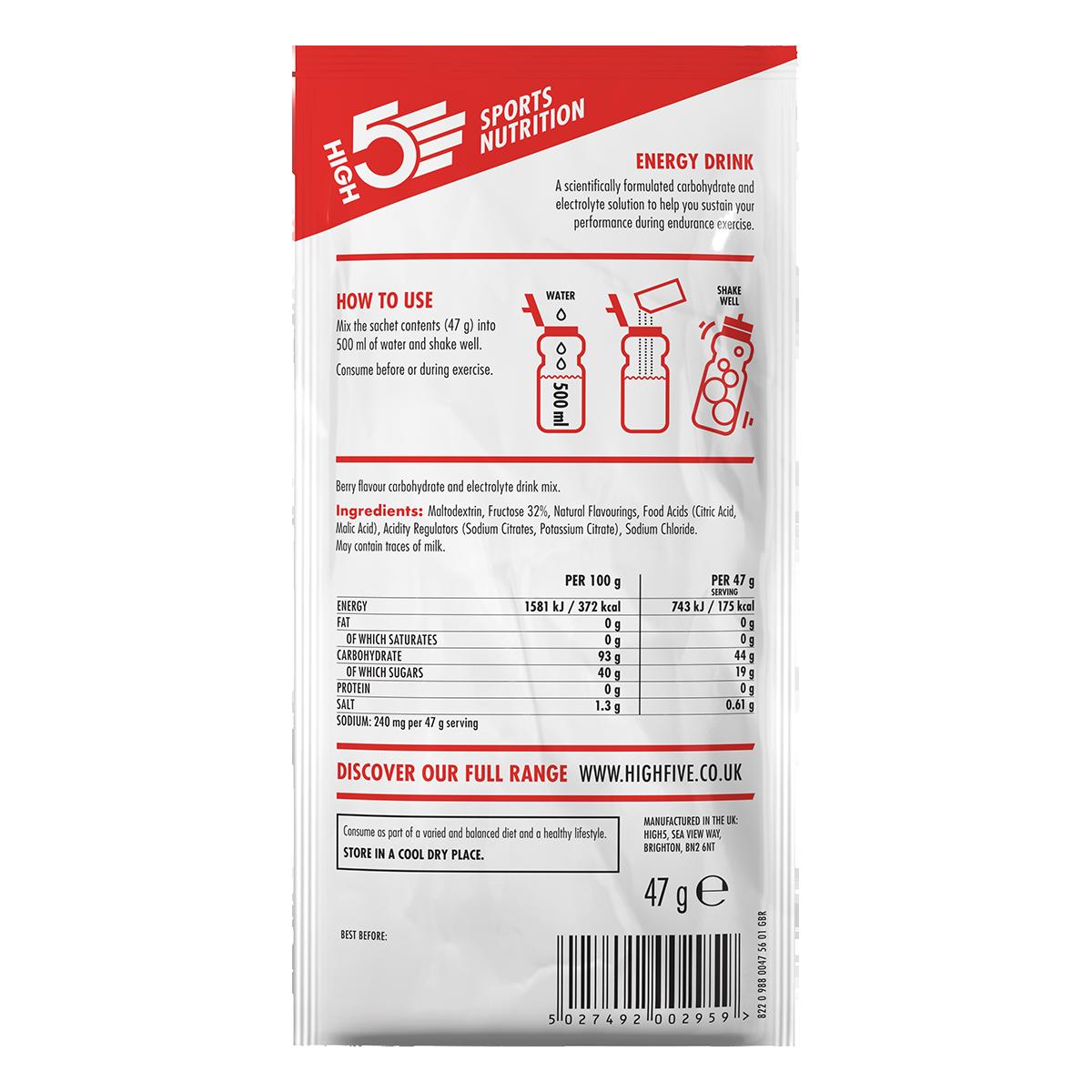 High5 2:1 Energy Drink - Nyárigyümölcs ízű, 47 (g)